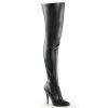 Seduce-3010 Black Faux Leather